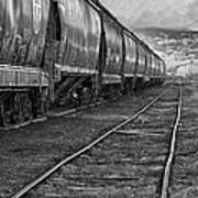 Next Tracks In Black And White Poster