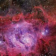 Ngc 6523, The Lagoon Nebula Poster
