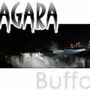 Niagara At Night Poster
