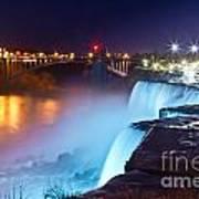 Niagara Falls At Night 2 Poster