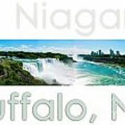 Niagara Falls Day Panorama Poster