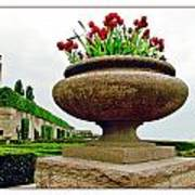 Niagara Falls Floral Urn Poster