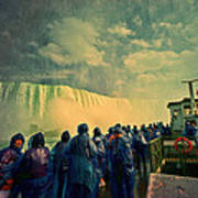 Niagara Falls From The Deck Maid Of The Mist Poster