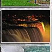 Niagara Falls Usa Triptych Series Poster