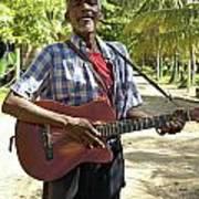 Nicaraguan Musician Big Corn Island Nicaragua Poster