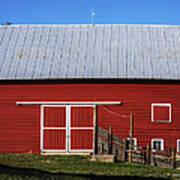 Nice Red Barn Poster