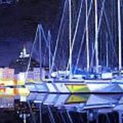 Night Harbor Poster