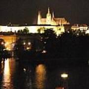 Night Time In Prague Poster