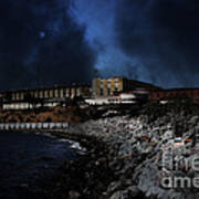 Nightfall Over Hard Time - San Quentin California State Prison - 5d18454 Poster by Wingsdomain Art and Photography