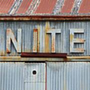 Nite Rusty Metal Sign Poster