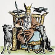 Norse God Odin (woden) Poster