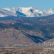 North Boulder Colorado Front Range View Poster