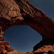 North Windows Arch Under Moonlight Poster