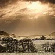 North Yorkshire, England Sun Shining Poster by John Short