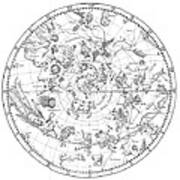 Northern Celestial Map Poster by Science, Industry & Business Librarynew York Public Library