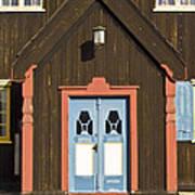 Norwegian Wooden Facade Poster