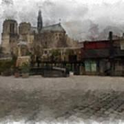 Notre Dame 1 Aquarell  Poster