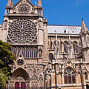 Notre Dame Cathedral Rose Window Poster