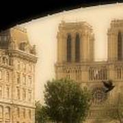 Notre Dame Cathedral Viewed Poster