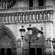Notre Dame With Luminaires Poster
