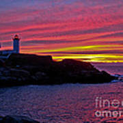 Nubble Lighthouse Poster by Scott Moore