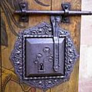 Nuremberg Castle Door Lock Poster