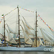 Nve Cisne Branco Passing By Fort Mchenry Poster