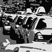 Nyc Traffic Bw3 Poster