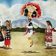 Oaxaca Dancers Poster