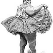 Obese Woman, 19th Century Poster by