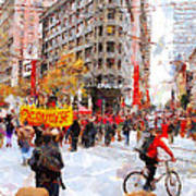 Occupy Sf Market Street . 7d9733 Poster by Wingsdomain Art and Photography