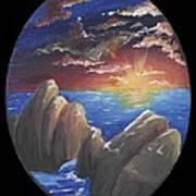 Ocean Circle Poster