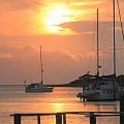 Ocracoke Island Harbor Sunset Poster