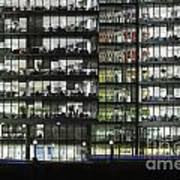 Office Buildings At More London By Night Poster