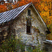 Old Abandoned House In Fall Poster