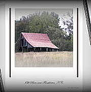 Old Barn - Edge Of The Field Poster