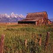 Old Barn, Grand Teton National Park Poster