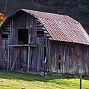 Old Barn In Etowah Poster