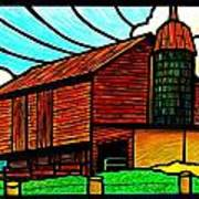 Old Barn On Keezletown Road Poster