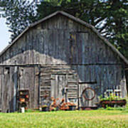Old Barn South Of Brevard Poster