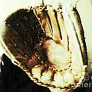 Old Baseball Glove Poster