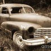 Old Caddy-sepia Poster