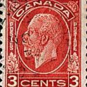 old Canadian postage stamp Poster
