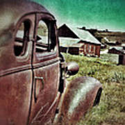 Old Car And Ghost Town Poster