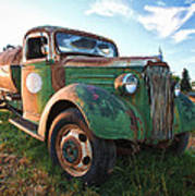 Old Chevy Tanker Truck Poster