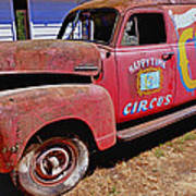 Old Circus Truck Poster