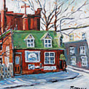Old Corner Store Montreal By Prankearts Poster