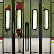 Old El Train Doors Poster