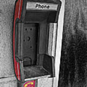 Old Empty Phone Booth Poster