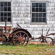 Old Farm Equipment Poster